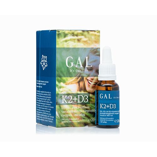 GAL D3+K2 vitamin - 60 adag