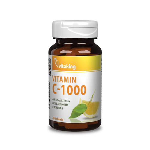 Vitaking C-vitamin 1000mg Bioflavonoid - 30db