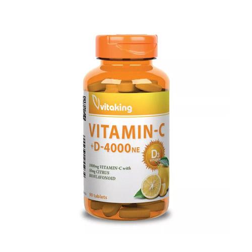 Vitaking C-vitamin 1000mg + D-vitamin 4000NE - 90db