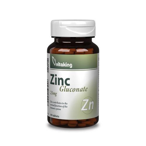 Vitaking Cink Glükonát 25mg - 90db
