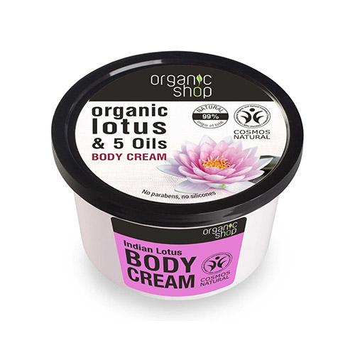 Organic Shop Indiai Lótusz testápoló krém - 250ml