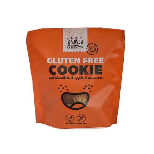Glulu's FreeFrom Csokoládés almás-fahéjas keksz - 100g