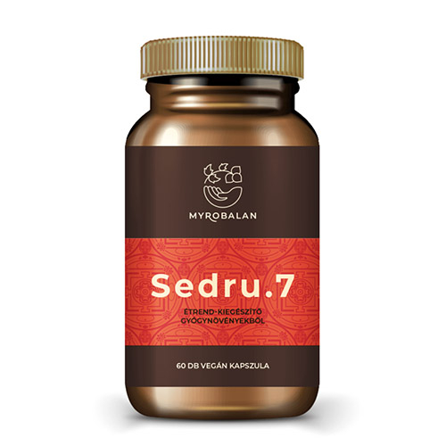 Myrobalan Sedru7 emésztést serkentő gyógynövényes kapszula - 60db