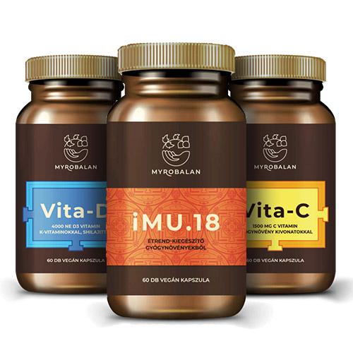 Myrobalan ImuVit csomag - C-D-vitamin és immunerősítő gyógynövény kapszula - 3x60db