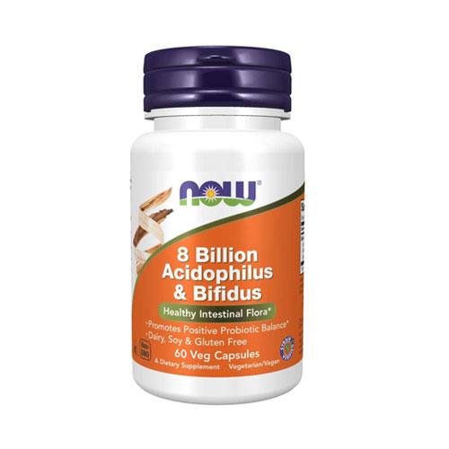 Now 8 Billion Acidophilus Bifidus probiotikum - 60db