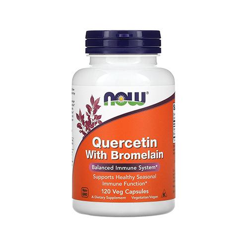 Now Quercetin flavonoid bromelánnal - 120db