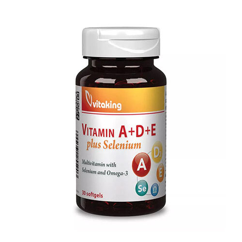 Vitaking A-D-E-vitamin és szelén komplex - 30db