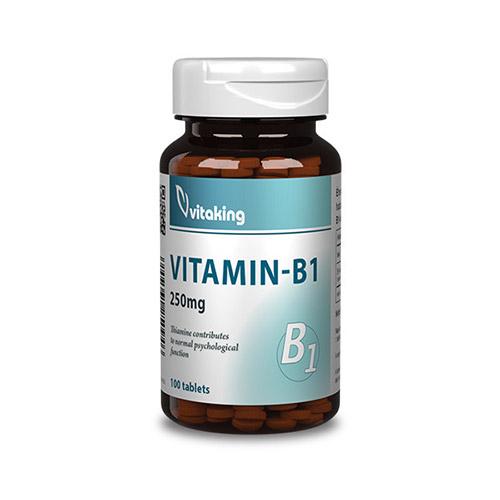 Vitaking B1-vitamin tiamin 250mg - 100db