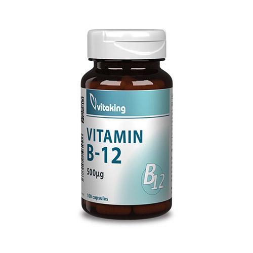 Vitaking B12-vitamin kobalamin 500mcg - 100db