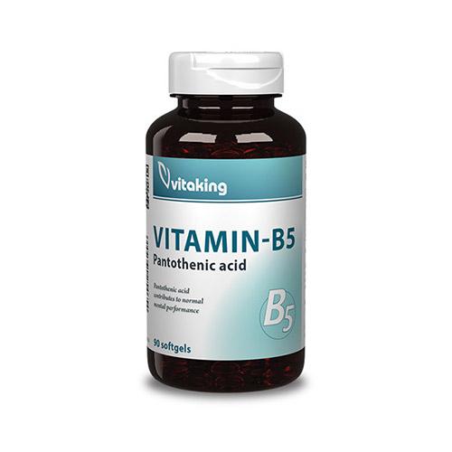 Vitaking B5-vitamin pantoténsav 200mg - 90db