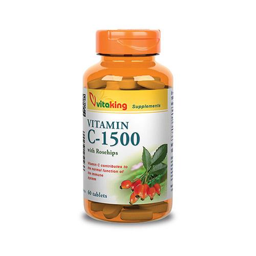 Vitaking C-vitamin 1500mg csipkebogyóval - 60db