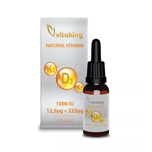 Vitaking D3-K1-K2-vitamin cseppek - 10ml
