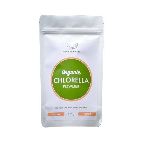 Happy Naturals Bio Chlorella alga por - 125g