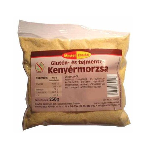Mester Család Gluténmentes kenyérmorzsa - 250g