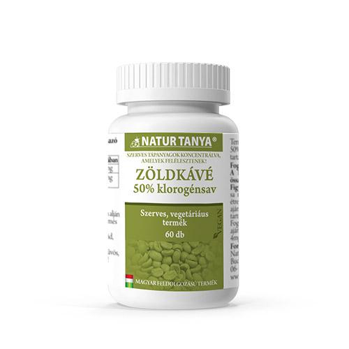 Natur Tanya Szerves zöld kávé testsúlycsökkentő tabletta - 60db
