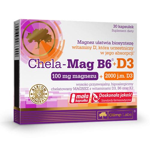 Olimp Labs Chela-Mag B6-D3-vitaminnal - 30db