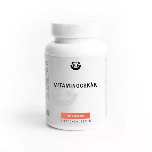 Panda Nutrition Vitaminocskák rágótabletta gyerekeknek - 30db