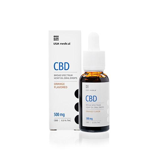 USA Medical CBD kannabisz olaj 500mg - 30ml