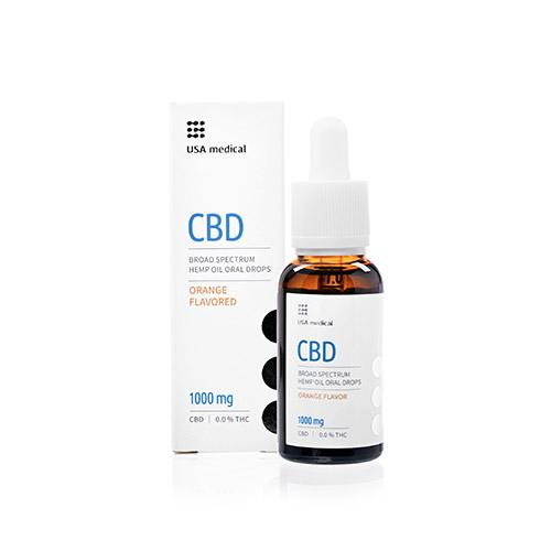 USA Medical CBD kannabisz olaj 1000mg - 30ml