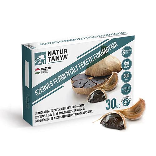 Natur Tanya Fermentált fekete fokhagyma kivonat 800mg - 30db